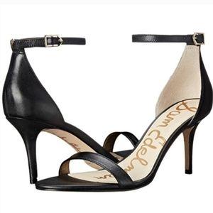 Womens Sam Edelman Black Ankle Strap Patti Heels